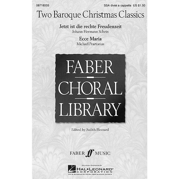 Hal LeonardTwo Baroque Christmas Classics SSA Div A Cappella arranged by Judith Blezzard