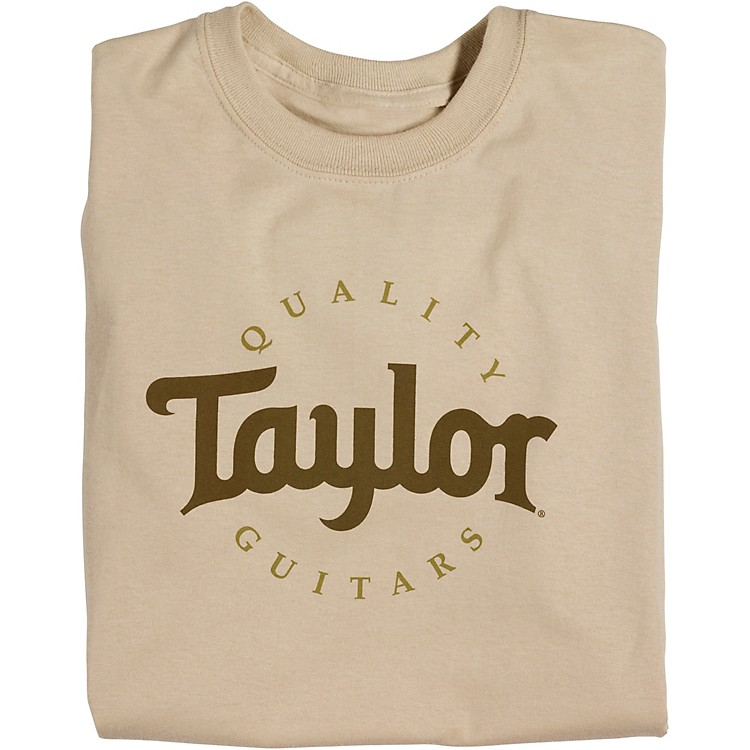 Taylor Two-Color Logo T-Shirt Sand Small