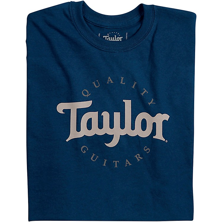 Taylor Two-Color Logo Tee Medium Navy