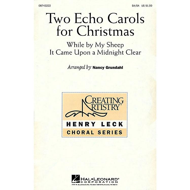 Hal LeonardTwo Echo Carols for Christmas (SA/SA) SA/SA arranged by Nancy Grundahl