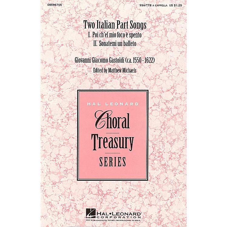 Hal LeonardTwo Italian Part Songs SSA/TTB arranged by Matthew Michaels