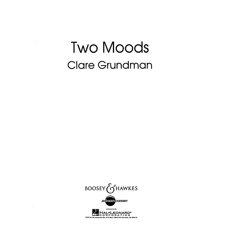 Boosey and HawkesTwo Moods Overture Concert Band Composed by Clare Grundman