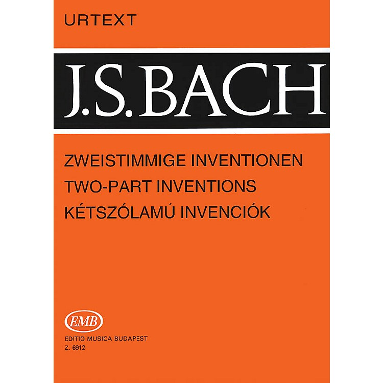 Editio Musica BudapestTwo-Part Inventions, BWV 772-786 EMB Series Composed by Johan Sebastian Bach