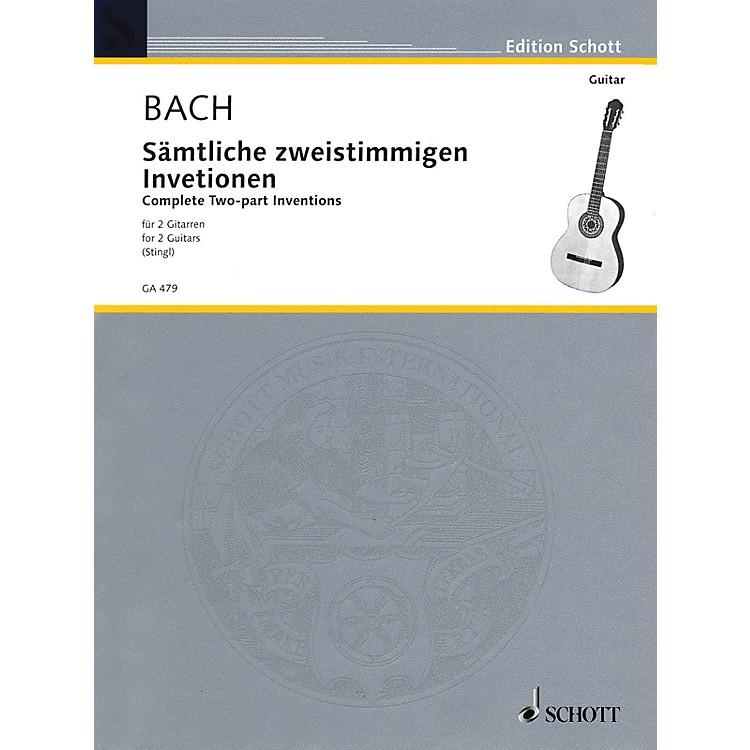 SchottTwo Part Inventions (Two Guitars) Schott Series