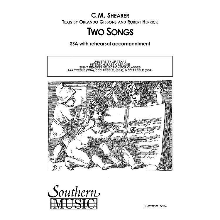 SouthernTwo Songs SSA Composed by C.M. Shearer