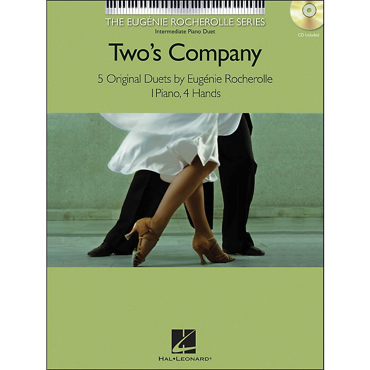 Hal Leonard Two's Company Eugenie Rocherolle Series: Intermediate Level Piano Duets Book/CD