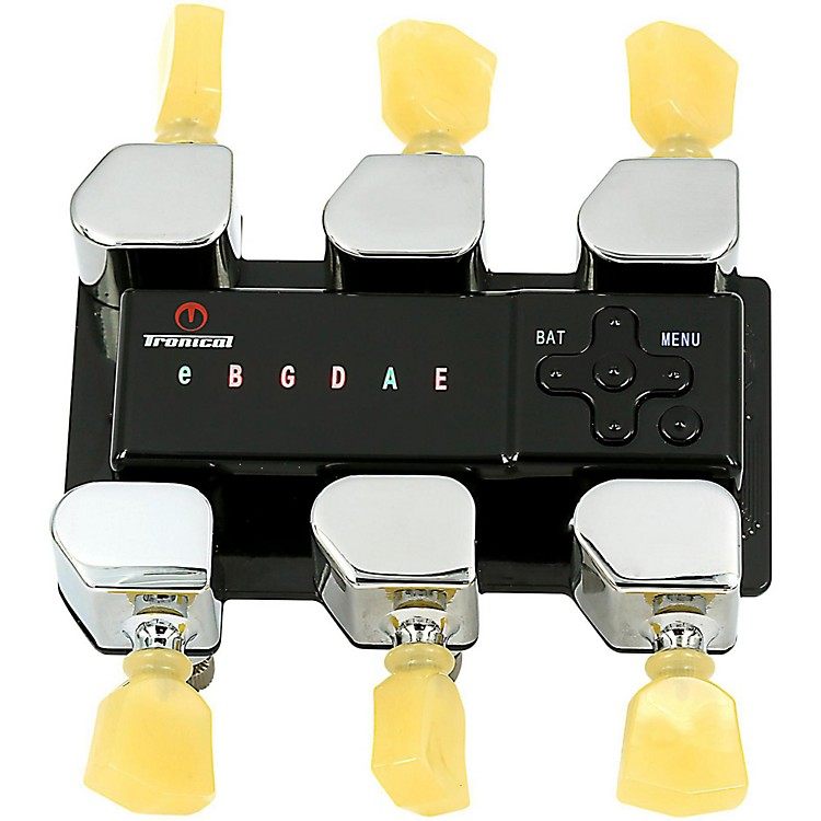 Tronical Tuning Systems Type D Self Tuner for Specific Gibson Guitars Vintage White Marbled Tulip Button 888365629421