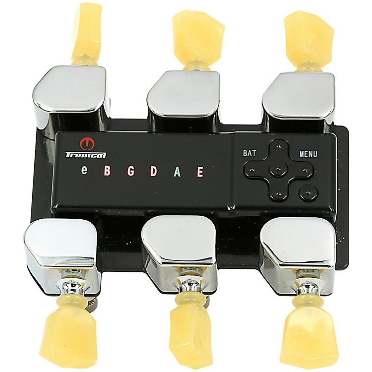 Tronical Tuning Systems Type P Self Tuner for Ibanez Guitars Vintage White Marbled Tulip Button