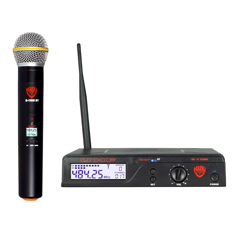 Nady U-1100 HT – 100 Channel UHF Handheld Wireless Microphone System Band B