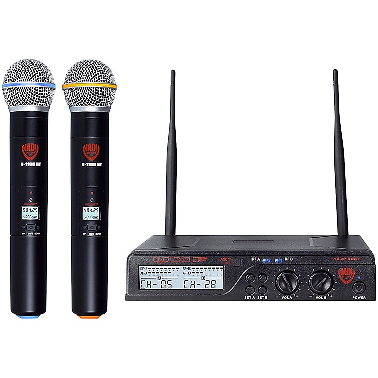 Nady U-2100 HT - Dual 100 Channel UHF Handheld Wireless Microphone System Band A and B