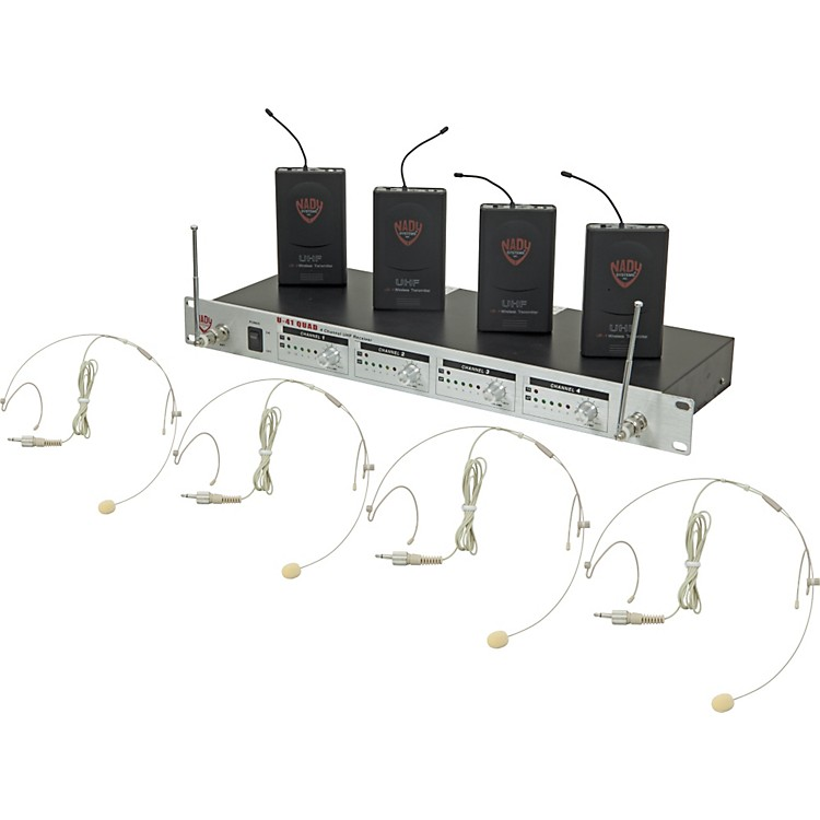 Nady U-41 Quad HM10 Headset Wireless System (14/16/10/12) Beige
