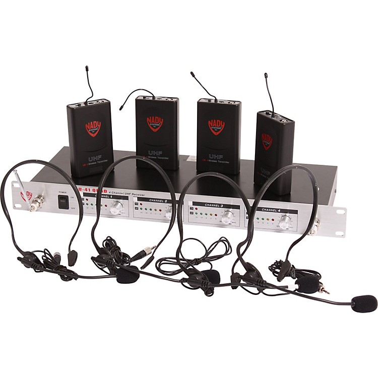 Nady U-41 Quad HM3 Headset Wireless System (14/16/10/12) Black 190839005199