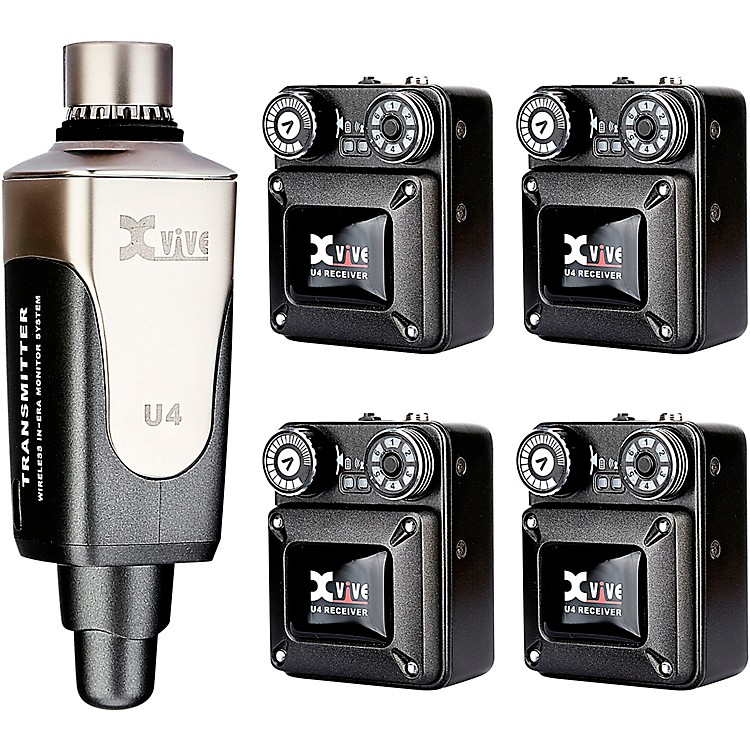 XViveU4R4 In-Ear Monitor Wireless System Transmitter One and Four Receiver