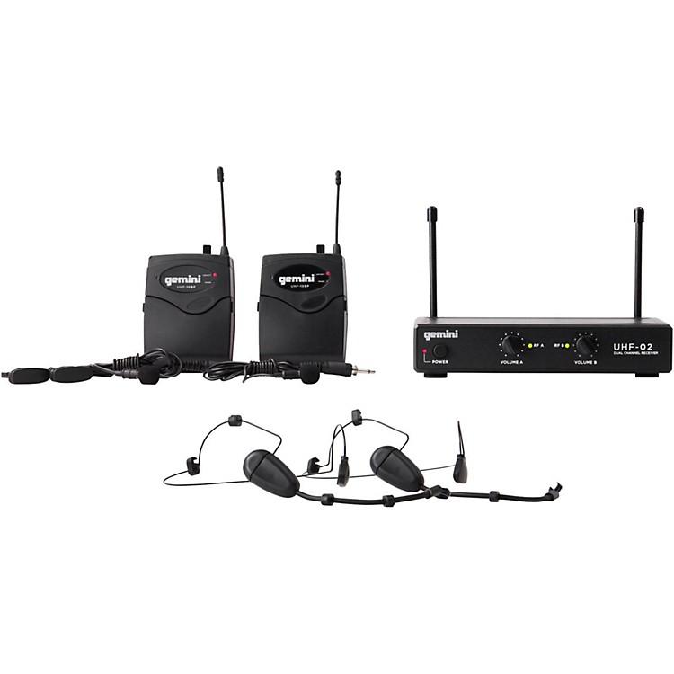 GeminiUHF-02HL 2-Channel Wireless Headset/Lavalier Combo SystemS12