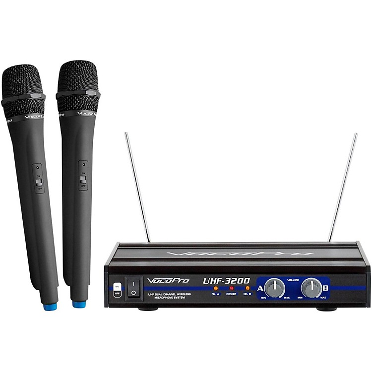VocoPro UHF-3200-5 2 CHANNEL UHF WIRELESS HANDHELD MICROPHONE Set 5