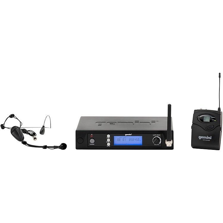 Gemini UHF-6100HL single headset with detachable lavalier System