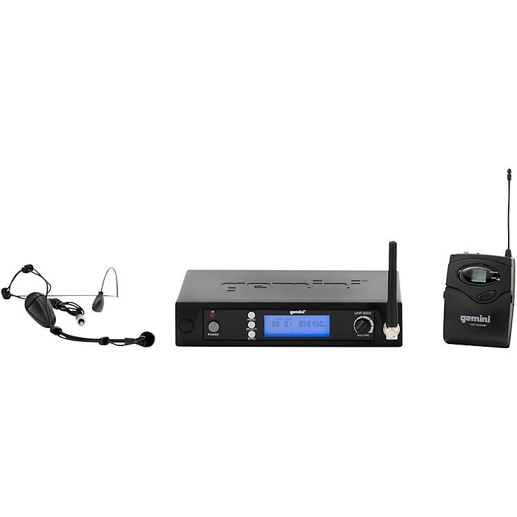 GeminiUHF-6100HL single headset with detachable lavalier System