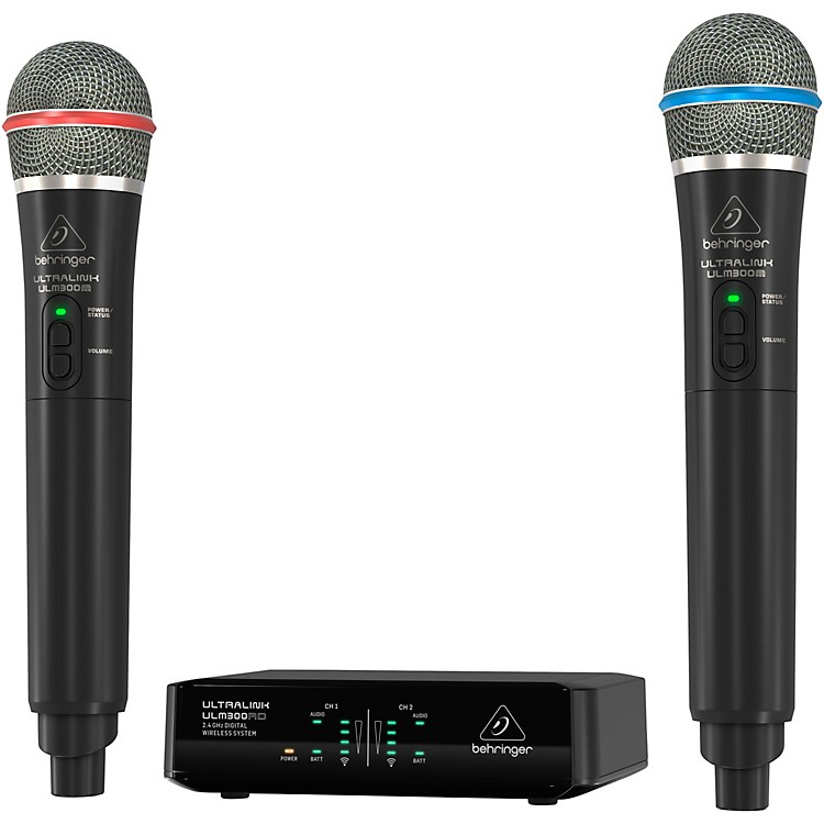 BehringerULM302MIC High-Performance 2.4 GHz Digital Wireless System with 2 Handheld Microphones