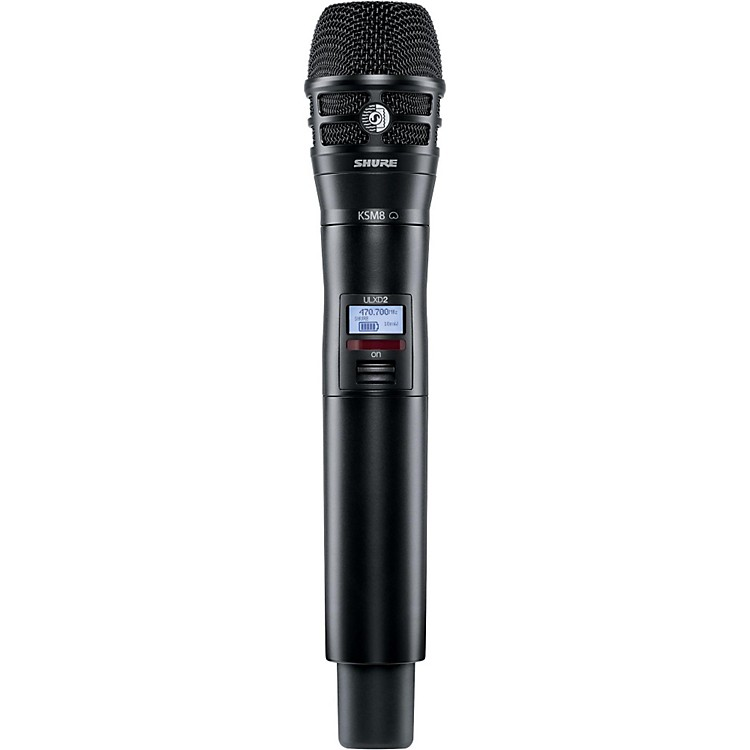 Shure ULXD2/K8B Handheld Transmitter with KSM8 Capsule in Black Band L50