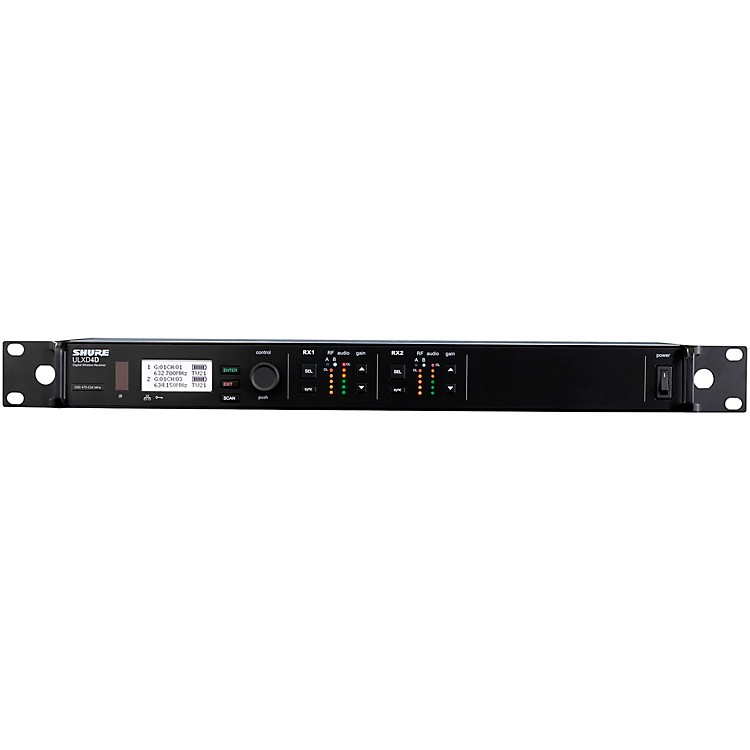 ShureULXD4D Dual-Channel Digital Wireless ReceiverBand H50