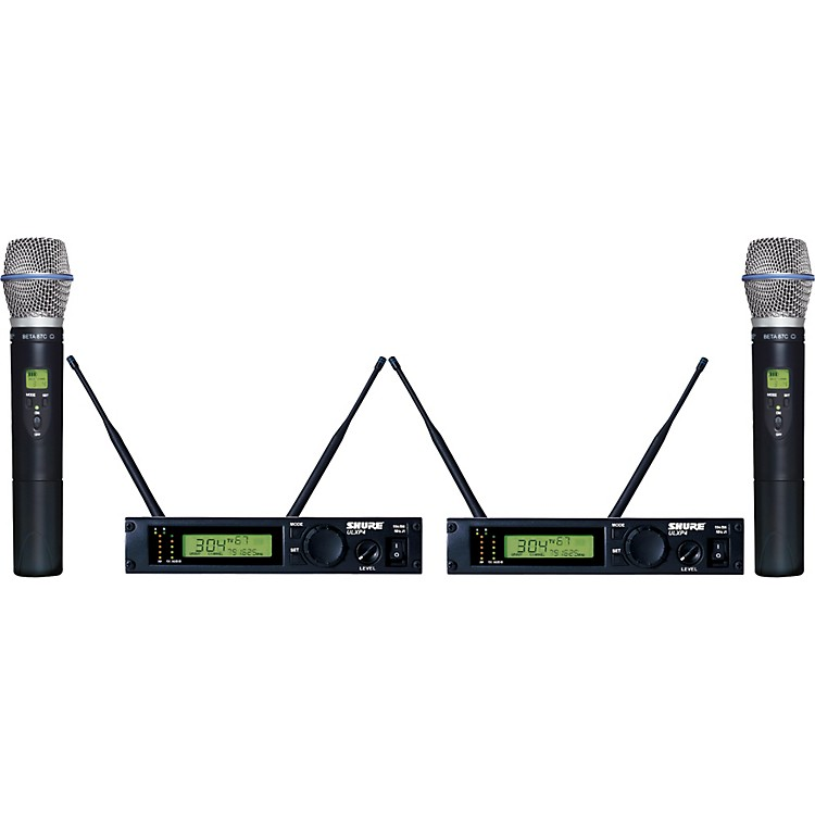 Shure ULXP24D/BETA87C Dual Handheld Wireless Microphone System