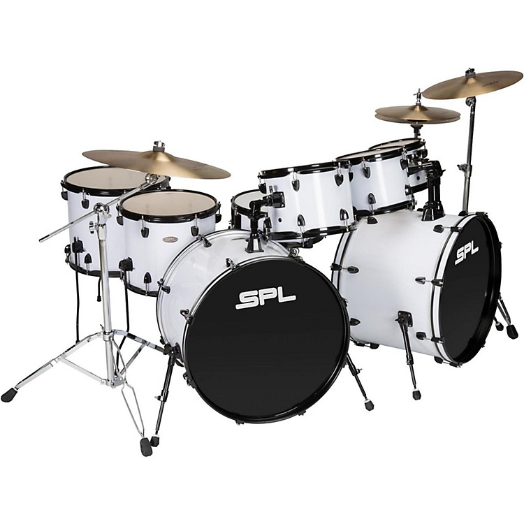 Sound Percussion LabsUNITY 8-Piece Double Bass Drum Shell Pack with PDP HardwareBlack