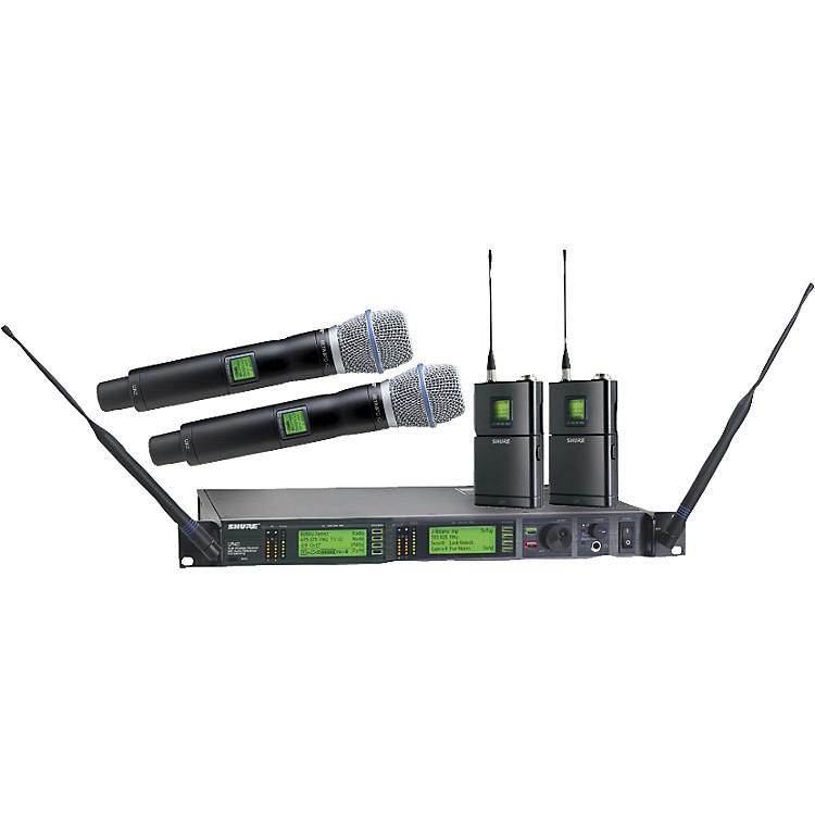 ShureUR124D/BETA87C Dual Bodypack Handheld Wireless Microphone System