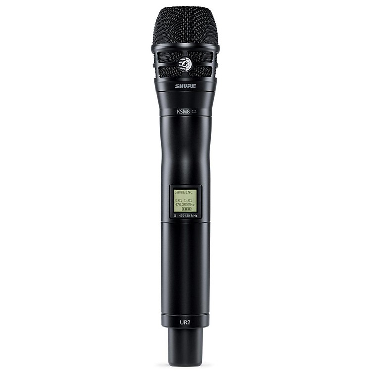 Shure UR2/K8B Handheld Transmitter with KSM8 Capsule in Black Band H4