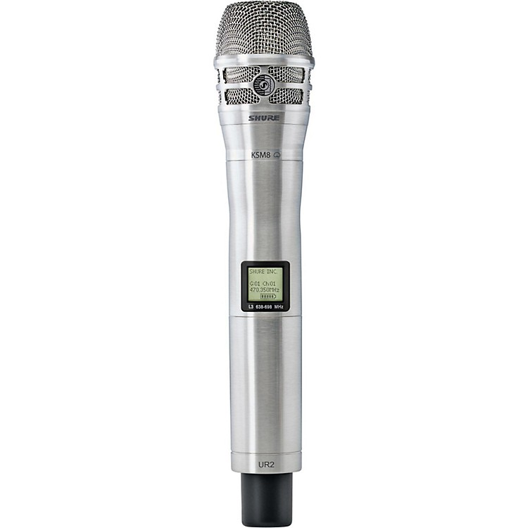 Shure UR2/K8N Handheld Transmitter with KSM8 Capsule in Nickel Band H4