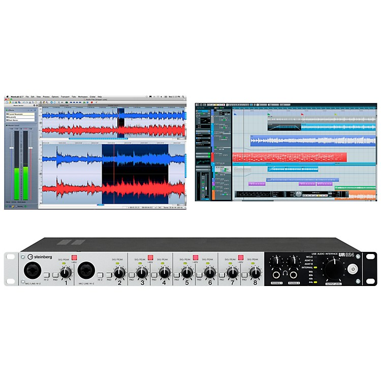 Steinberg UR824 USB 2.0 Audio Interface with DSP FX USB 2.0 Audio Inetrface with DSP FX