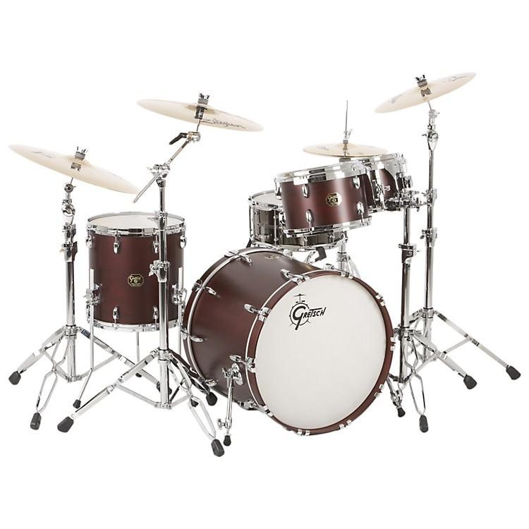 Gretsch DrumsUSA Custom Quick Delivery 4-Piece Euro Drum Shell PackSatin Walnut