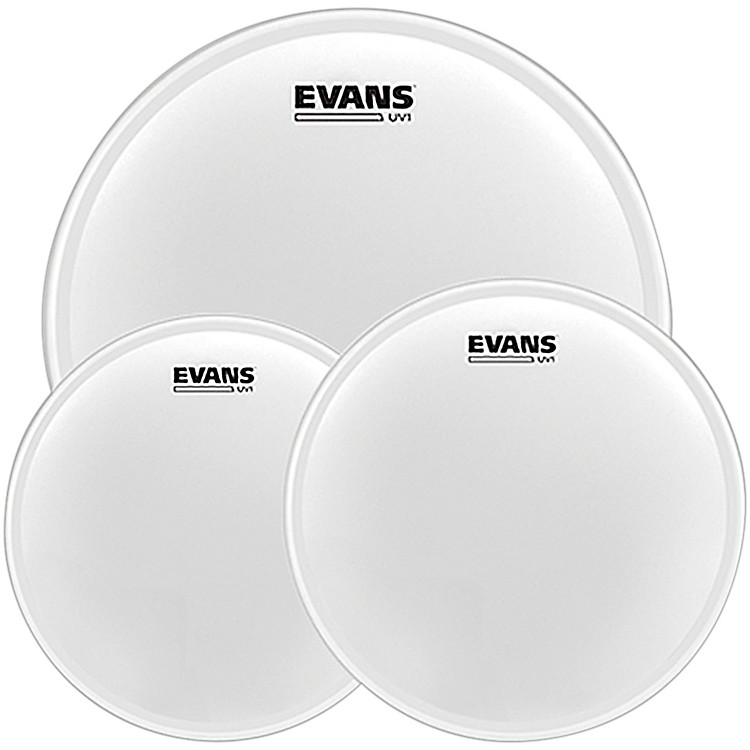 EvansUV1 Tom Pack with Free 14 in. UV1 Snare Head10, 12, 16 in.