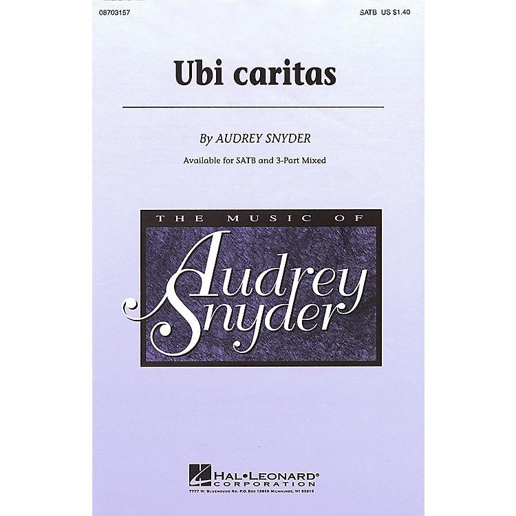 Hal LeonardUbi Caritas 3-Part Mixed Composed by Audrey Snyder