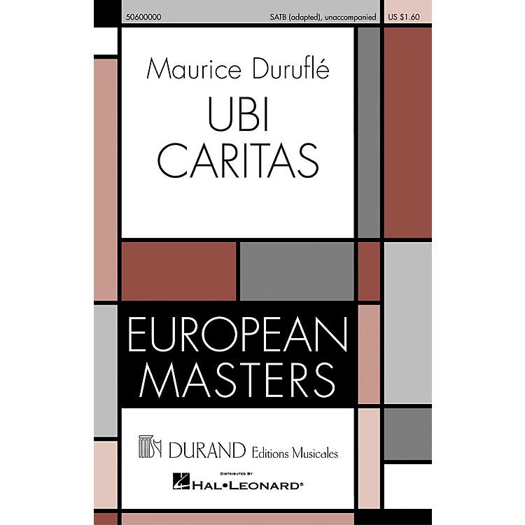 Editions DurandUbi Caritas (European Masters Series) composed by Maurice Duruflé