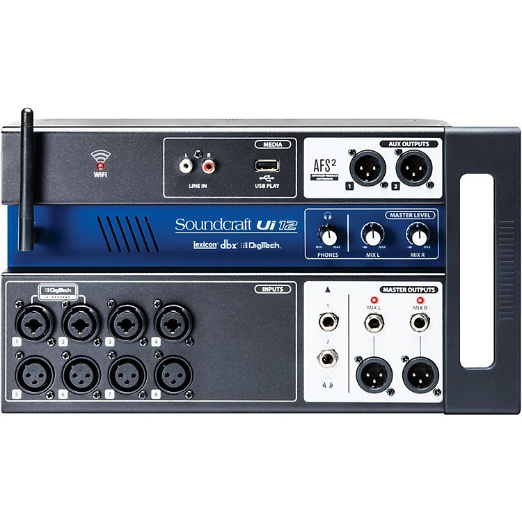 SoundcraftUi12 Digital Mixer with Wi-Fi Router