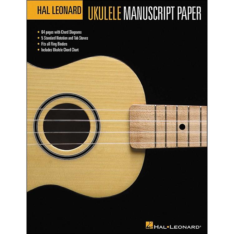 Hal LeonardUkulele Manuscript Paper (8.5 X 11) Book