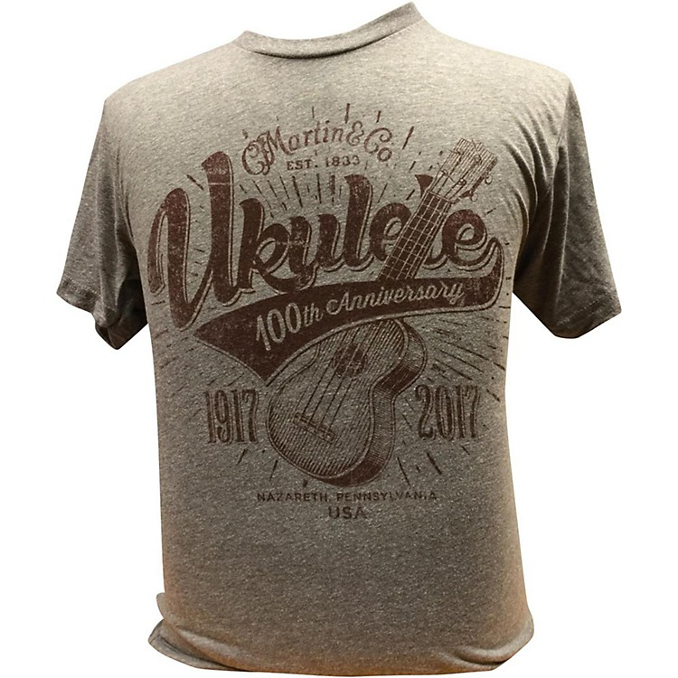 Martin Ukulele for Centennial Celebration - Gray T-Shirt XX Large
