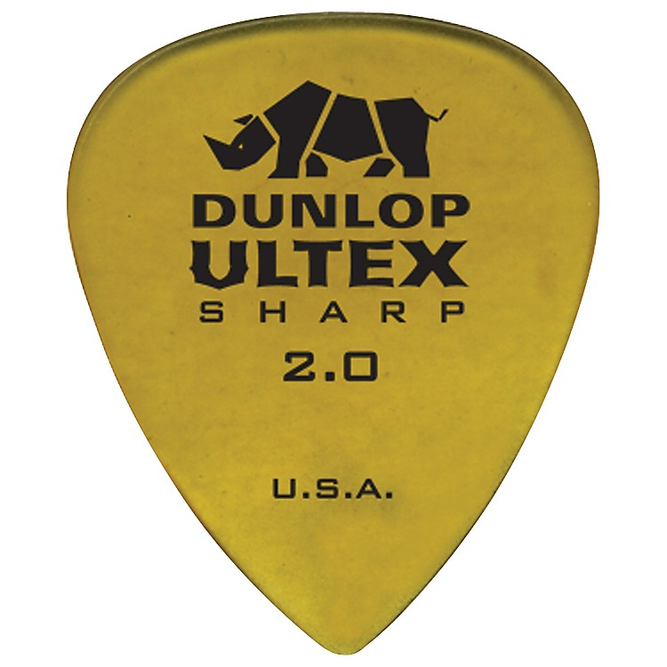 Dunlop Ultex Sharp Picks - 6 Pack 2.0 mm