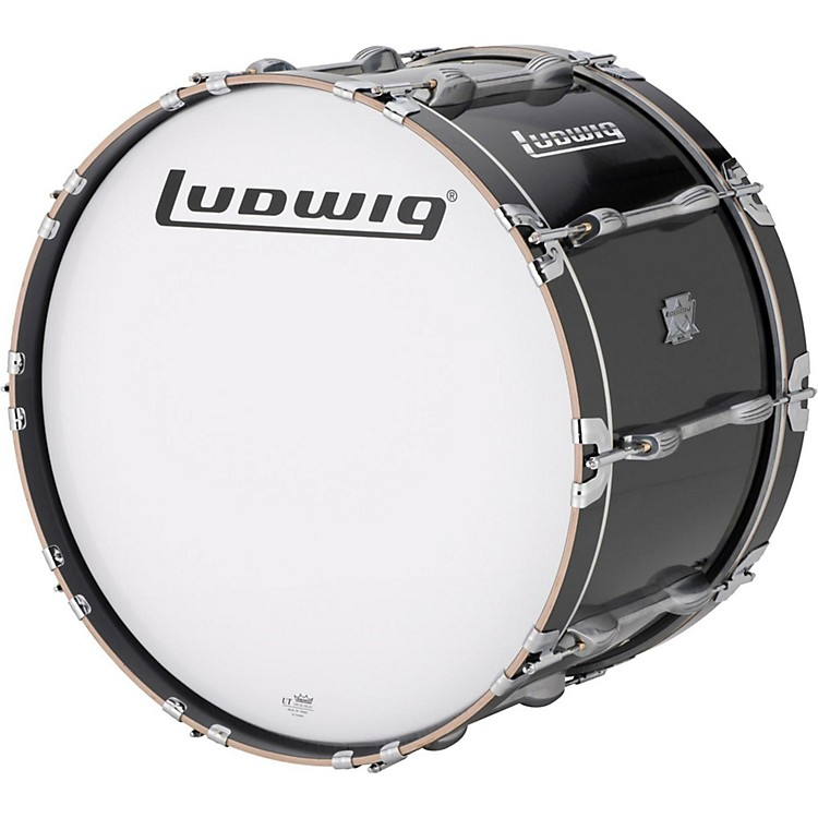 Ludwig Ultimate Marching Bass Drum - Black 16 in.