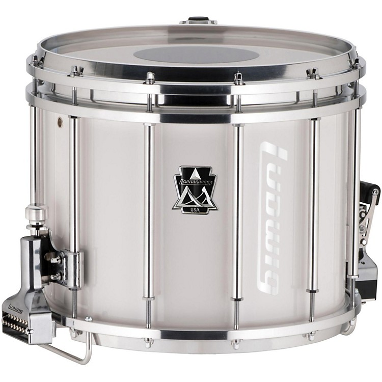 ludwig ultimate marching snare drum 14 x 12 in white music123. Black Bedroom Furniture Sets. Home Design Ideas