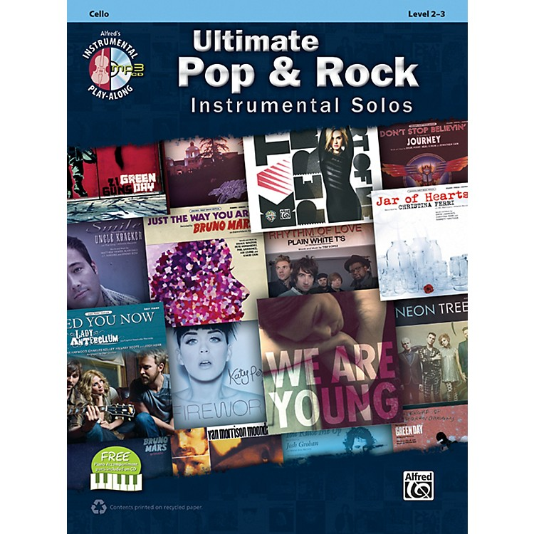 AlfredUltimate Pop & Rock Instrumental Solos for Strings Cello (Book/CD)
