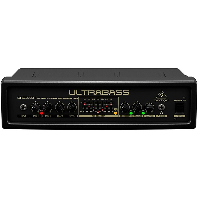 Behringer Ultrabass 300 Watt 2-Channel 7-Band FBQ Equalizer Bass Amplifier Head Black