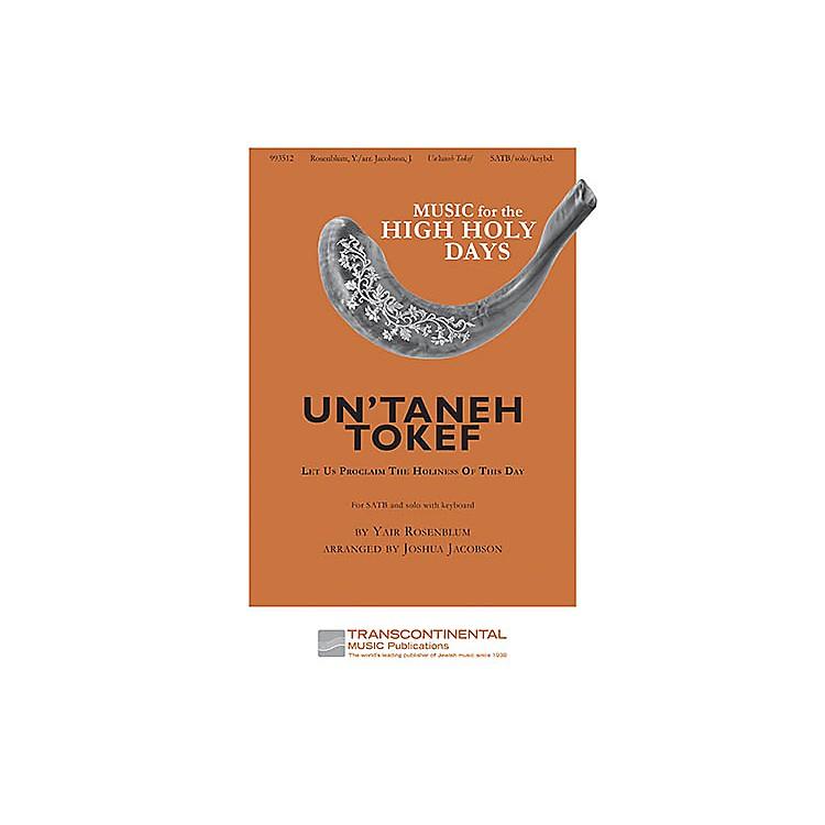 Transcontinental MusicUn'Taneh Tokef SATB arranged by Joshua Jacobson