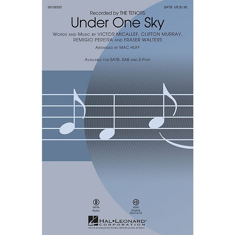 Hal Leonard Under One Sky ShowTrax CD by The Tenors Arranged by Mac Huff