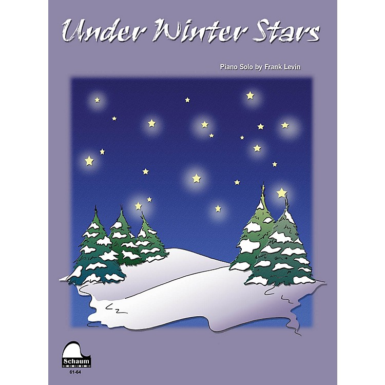 SCHAUMUnder Winter Stars Educational Piano Series Softcover