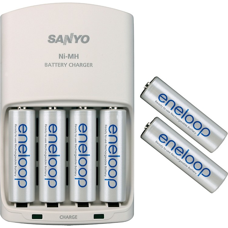 SanyoUniversal 4-position charger with 6 Eneloop 1500 AA batteries