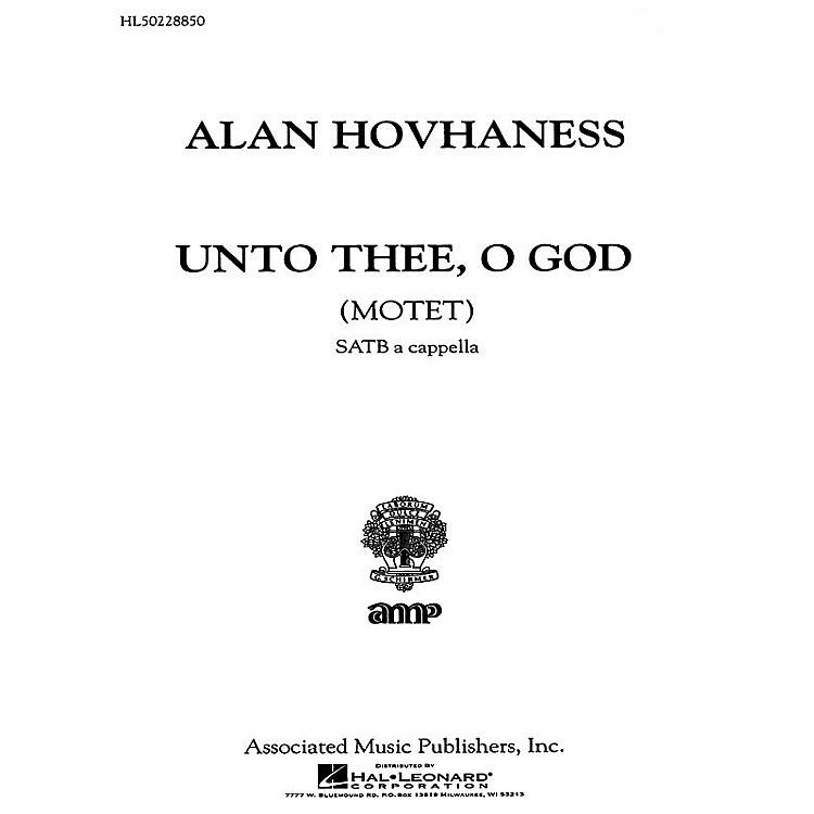 AssociatedUnto Thee O God  Motet A Cappella SATB composed by A Hovhaness