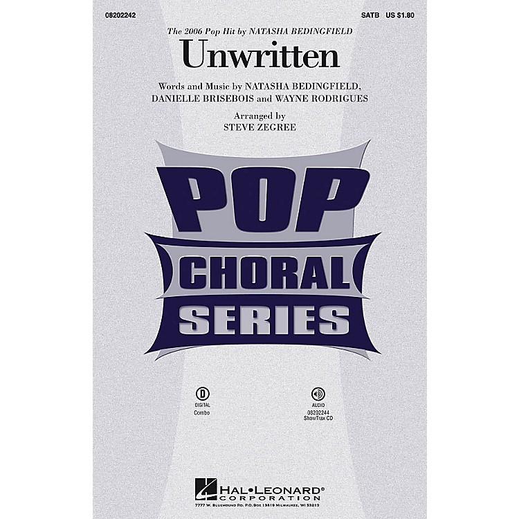 Hal LeonardUnwritten SATB by Natasha Bedingfield arranged by Steve Zegree