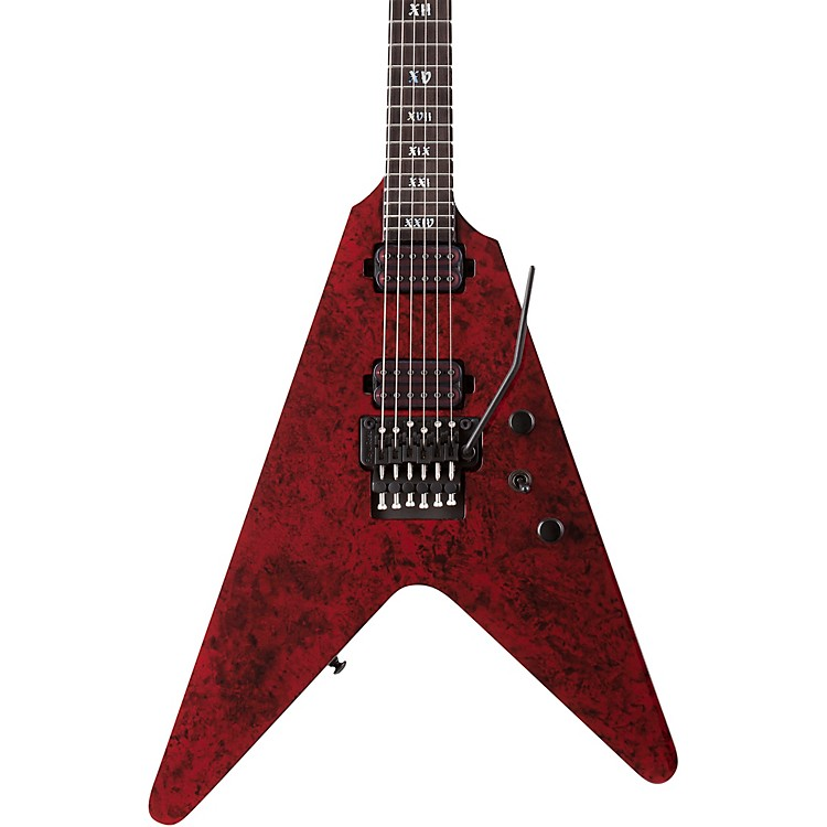 Schecter Guitar ResearchV-1 FR Apocalypse Electric GuitarRed Reign