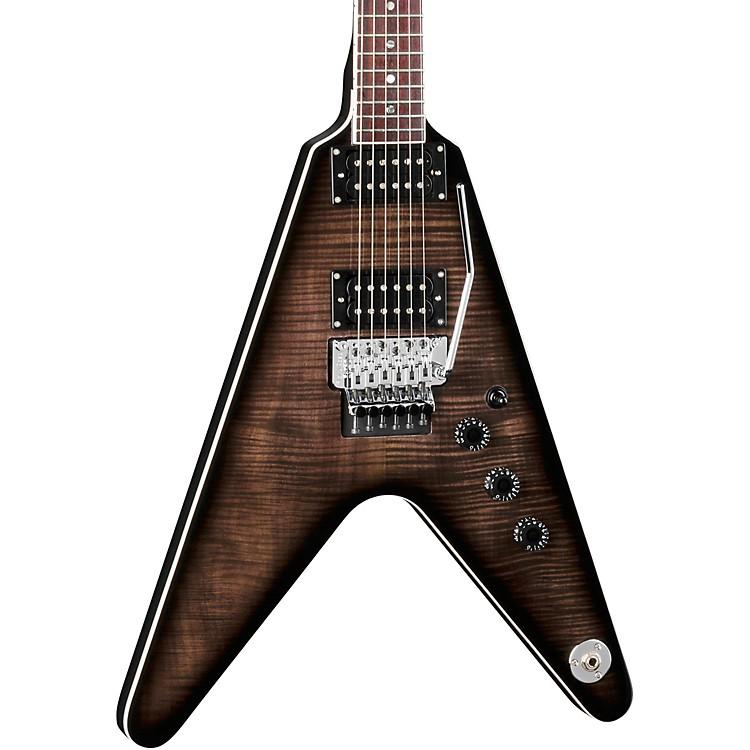 DeanV 79 Floyd Flame Top Electric GuitarTransparent Black